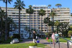 Le Tusen dollar Hotell i Cannes Croisette Royaltyfri Bild