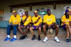 Le Tutto stelle ad ovest al gioco di Jeffrey Osborne Foundation Celebrity Softball fotografia stock libera da diritti