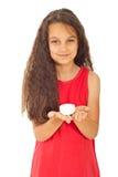le tvål för flickaholding Royaltyfri Bild