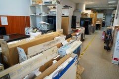Le TV riparano nel centro di servizio Immagine Stock