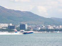 Le type de ` d'ALTAIR de ` de Beriev Be-200 es a le décollage Images stock