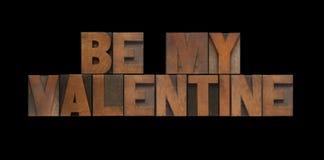 Le type en bois soit mon valentine Photos stock
