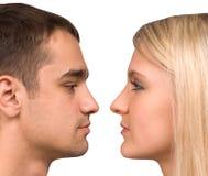 Le type et la fille Image libre de droits
