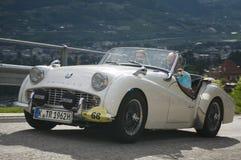 Le Tyrol du sud cars_2014_Triumph classique TR 3 B Photos stock
