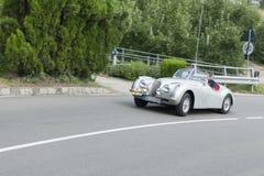 Le Tyrol du sud Rallye 2016_Jaguar XK 120 OTS SE_front Image libre de droits