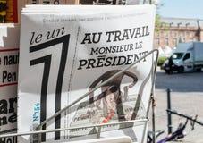 Le un报告移交仪式总统就职典礼  免版税库存照片