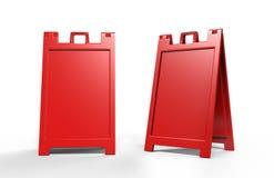 Le Un-strutture leggere e portatili della plastica che annunciano i supporti dell'insegna sono grande modo annunciare il vostro a Fotografia Stock Libera da Diritti