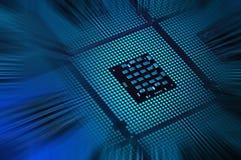 Le unità di elaborazione del computer hanno allineato con post produzione astratta di effetti della luce Immagine Stock Libera da Diritti