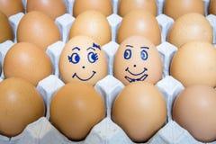 Le uova è felicità fotografia stock