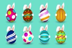 Le uova di Pasqua - coniglietto di pasqua - consegnano le uova - Pasqua felice Fotografie Stock