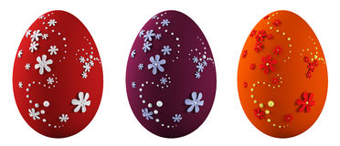 Le uova di Pasqua hanno isolato la rappresentazione 3d illustrazione vettoriale