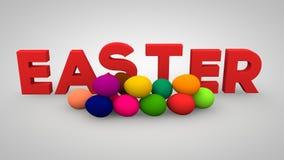 Le uova di pasqua sul bianco Immagini Stock Libere da Diritti