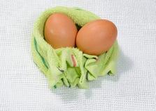 Le uova sono state avvolte Fotografie Stock Libere da Diritti