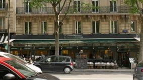 Le Uroczysty Korona s?oneczna restauracji tarasu cukiernianego baru karczemni Paryscy Uliczni ludzie zdjęcie wideo