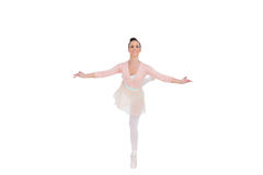 Le ursnyggt ballerinaanseende i en posera royaltyfri fotografi