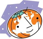 Le världsjordklot Vektor Illustrationer