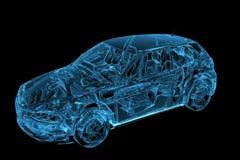 Le véhicule 3D a rendu le rayon X bleu Photos libres de droits