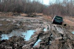 Le véhicule a collé dans la boue Photographie stock
