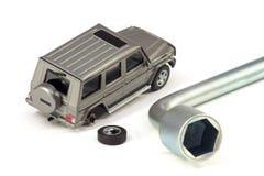 Le véhicule défectueux Photo stock