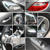 Le véhicule de luxe détaille le collage Photographie stock libre de droits