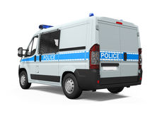 Le véhicule de police a isolé Image libre de droits