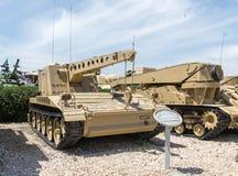 Le véhicule de récupération blindé américain M578 ARV se trouve sur le chantier commémoratif près du musée blindé de corps dans L image libre de droits