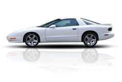 le véhicule folâtre le blanc Photo stock