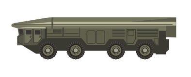 Le véhicule militaire énorme avec le corpus blindé a isolé l'illustration illustration de vecteur