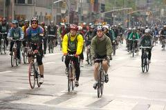 le vélo Boro cinq TD ny de 2009 côtés voyagent Images libres de droits