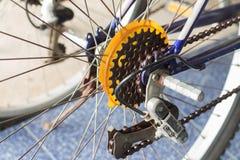 Le vélo de montagne embraye la cassette Image libre de droits