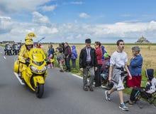 Le vélo jaune au début du Tour de France 2016 Images stock