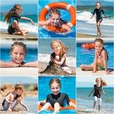 Le vacanze estive della bambina Fotografia Stock Libera da Diritti