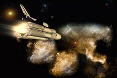 Le vaisseau spatial illustration stock