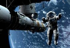 Le vaisseau spatial Images libres de droits