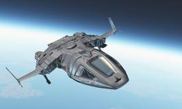 Le vaisseau spatial illustration de vecteur
