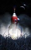 Le vaisseau spatial de Rocket décollent illustration stock