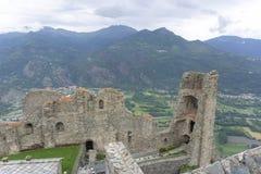Le Val de Suse a regardé de Sacra di San Michele de Piémont, Italie Photo libre de droits
