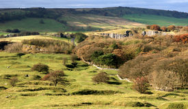 Le vallate del Derbyshire si avvicinano a Buxton Fotografia Stock