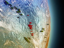 Le Vanuatu en rouge de l'espace illustration stock