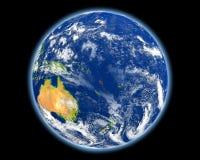 Le Vanuatu en rouge de l'espace Image libre de droits