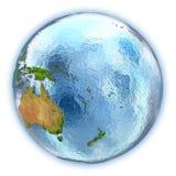 Le Vanuatu sur le globe d'isolement illustration de vecteur