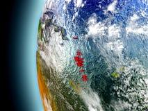 Le Vanuatu sur terre de planète de l'espace illustration de vecteur