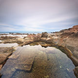 Le Vaschette water pool landscape. Livorno, Italy Royalty Free Stock Photo