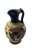 Le vase grec avec endommage la peinture Photo stock