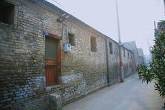 Le vecchie abitazioni della città nella vecchia città di Luoyang immagine stock