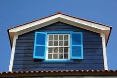 Le vecchie Azzorre Windows Fotografia Stock Libera da Diritti