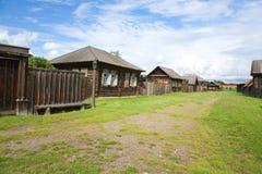 Le vecchie case di legno Immagini Stock Libere da Diritti