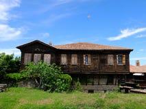 Le vecchie case di Sozopol antico immagine stock