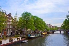 Anello del canale di Amsterdam, Paesi Bassi Immagini Stock Libere da Diritti