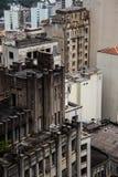Le vecchie e costruzioni invecchiate dettagliano la vista dal livello Fotografia Stock Libera da Diritti